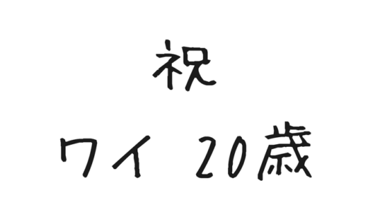2018年4月3日、わたしはついに20歳になりました。