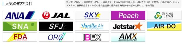 格安航空券比較サイト「skyticket(スカイチケット)」が取り扱っている会社